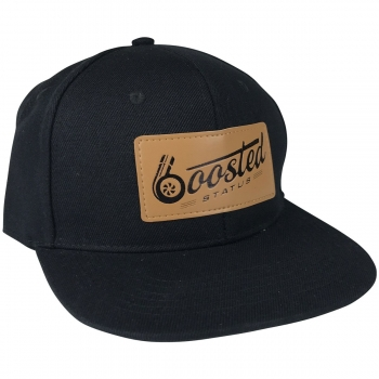 Boosted Status Snapback Cap Hat - Black/Black