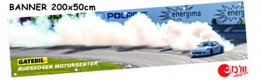 "Banner ""DRIFT AT GATEBIL"" 200x50cm"