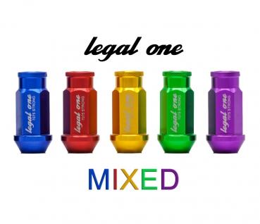 legal one m12 x 1 5 mixed set aluminium radmuttern lug nuts mit t v