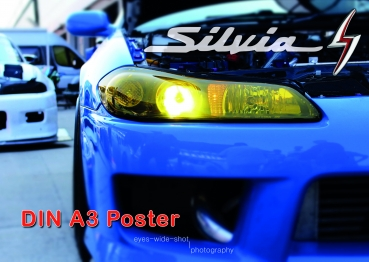 A3 Poster Nissan Silvia S15 Headlight