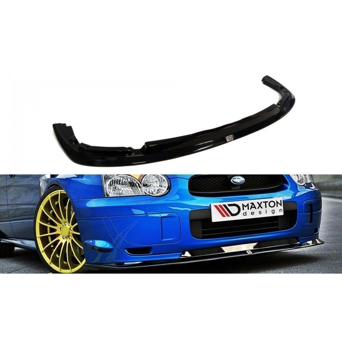 Cup Spoilerlippe Subaru Impreza WRX STI schwarz Hochglanz BLOBEYE