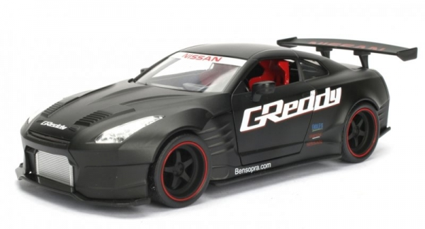 1 24 jdm 2009 nissan gt r r35 greddy ben sopra prime black. Black Bedroom Furniture Sets. Home Design Ideas