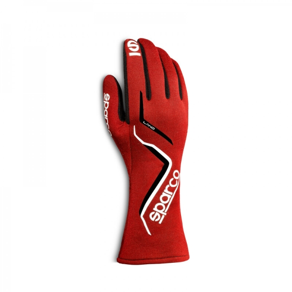 Sparco Land Gloves, Rot (FIA)